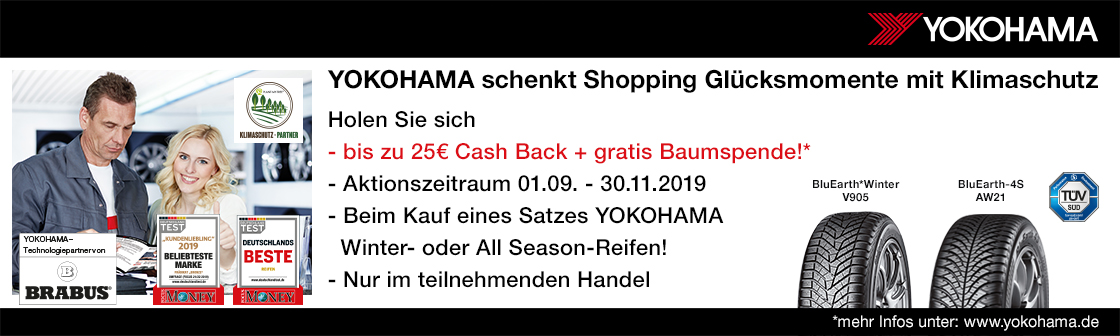 Yokohama Cash Back Winter Aktion